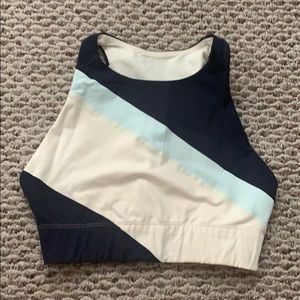 New Balance® for J.Crew crop top in striped
